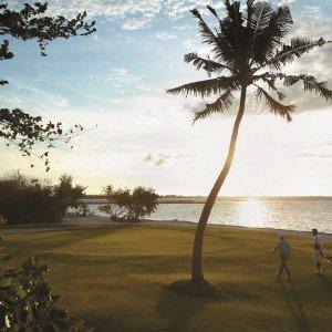 Golf course sunset horizontal