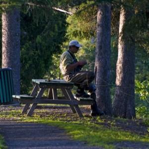 Pêcheur de saumon-parc des Fourches-Causapscal 2 © Le Québec maritime-Marc Loiselle
