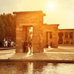 MADRID ESPAGNE – Temple de Debod  ( Copyright  VICTOR TORRES )
