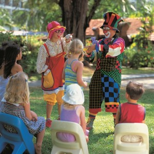 Clowns Entertaining children