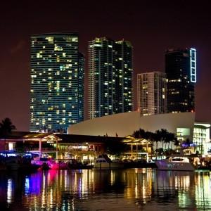 Miami beach by night