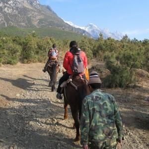 Balade à cheval dans le Yunnan