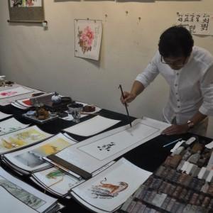 Calligraphy Demonstration Xian
